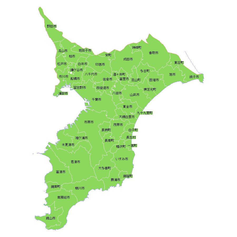 地籍調査状況マップ-千葉県|地籍調査Webサイト