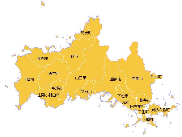 地籍調査状況マップ-山口県|地籍調査Webサイト